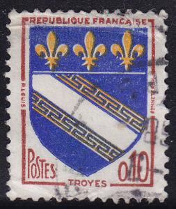 France 1041 USED 1963 Arms of Troyes