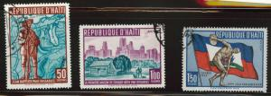 Haiti  Scott C145-147 Used CTO set similar cancels