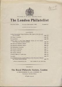 The London Philatelist: Vol. LXIX, Number 813,