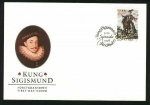 Sweden. FDC Cachet 1998. King Sigismund. Horse,Dog. Engraver: Cz. Slania