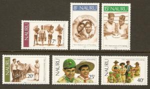 Nauru #244-9 NH Scouting Year