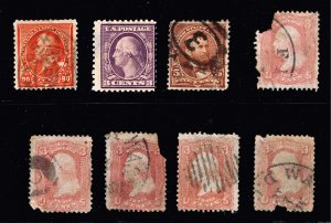 US STAMP FAULTS STAMPS COLLECTION LOT