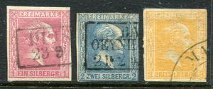 GR Lot 10146 German State Prussia 1857 MICHEL 6 - 8  1Sgr - 3Sgr Stamps