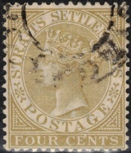 Straits Settlements Scott #44 Used