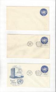 United Nations U2, Postal Stationery,  Mint & ArtCraft , No Cachet FDC