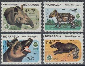 1984 Nicaragua 2549-2552 Fauna