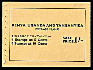 Kenya,Uganda,Tanganyika SG SB6, MNH, Unexploded Booklet