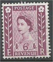 NORTHERN IRELAND, GB, 1958 used 6p, Scott 3