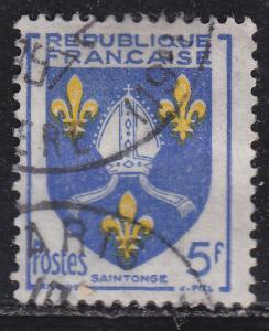 France 739 Hinged 1954 Arms of Saintonge 5Fr