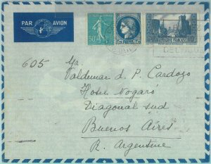 88873 - FRANCE - Postal History -  AIRMAIL  COVER to ARGENTINA 1938 - SMOKING