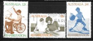 Australia 523-525: People Dealing with Handicaps, used, VF