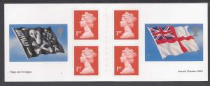 Great Britain 2000 01a two flags + definitives Booklet SA