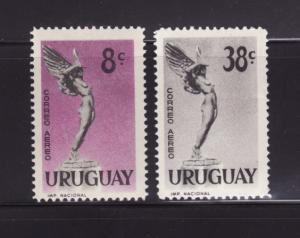 Uruguay C183-C184 MNH From Fallen Aviators Monument (B)