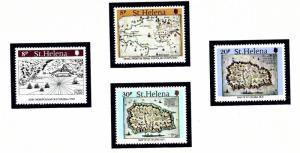 St Helena 348-51 MNH 1981 Maps