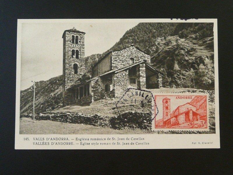 architecture roman church maximum card Andorra 1955