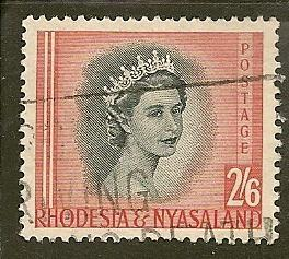 Rhodesia & Nyassaland  Scott   152   Queen    Used