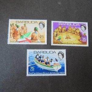 Barbuda Sc 36-38 Scouts set MNH