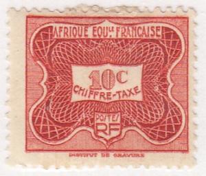 French Equatorial Africa, Scott #J12 (2), MH