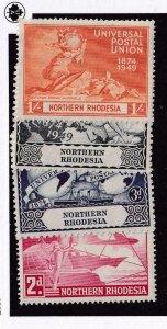 NORTHERN RHODESIA # 50-53 VF-MH UNIVERSAL POSTAL UNION