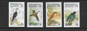 BIRDS - SOLOMON ISLANDS #535-538  MNH