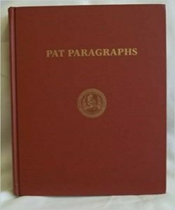 PAT PARAGRAPHS BY: ELLIOTT PERRY 1981 - HARDCOVER BOOK