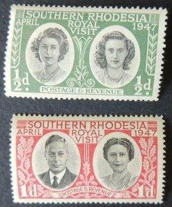 Southern Rhodesia 1947 royal visit kgvi kg6 queen mother elizabeth margaret