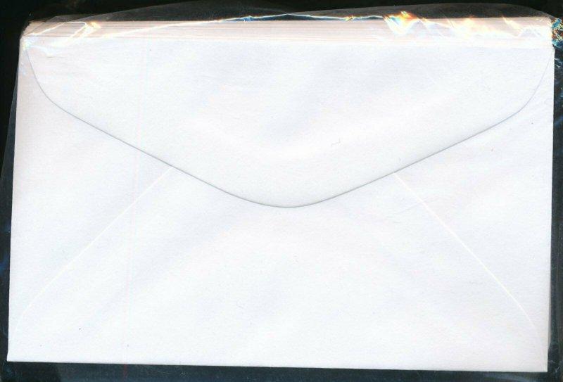 100 - Stamp Dealer Window Display Envelopes #1 - White 3 1/8 x 5 1/8  U487