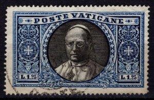 Vatican City 1933 Pope Pius XI, 1l.25 [Used]