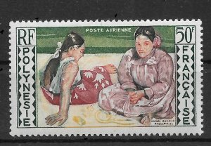 French Polynesia 1958 Airmail,Women of Tahiti 50fr, Scott # C25, VF MNH**(SL-1)
