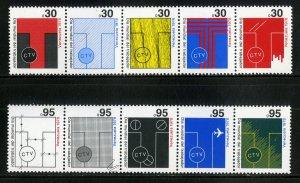 VENEZUELA 1199-1200 STRIPS-5 MNH SCV $2.80 BIN $1.50