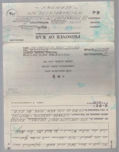 1944 General Hospital German POW Camp Letter Sheet Cover Germany Prisoner of War
