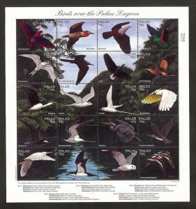 Palau Islands, 402, Birds Full Sheet (20), MNH