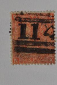 Great Britain . Scott 43, plate 14. used. Scott cv $92.50