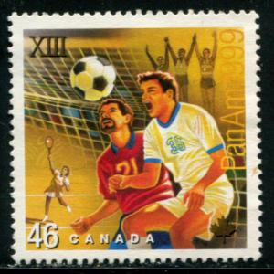 1804 Canada 46c Pan Am Games-Soccer, used