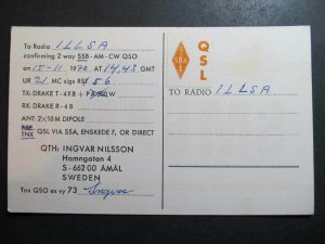10534 Amateur Radio QSL Card AMAL SWEDEN