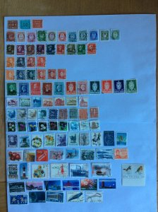 Norway 100+ stamps - Lot E