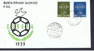 ITALY 1959 EUROPA FDC