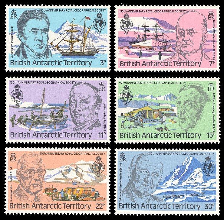 British Antarctic Territory 1980 Scott #76-81 Mint Never Hinged