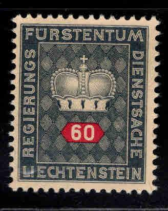LIECHTENSTEIN Scott o43  MH* Official stamp on buff paper