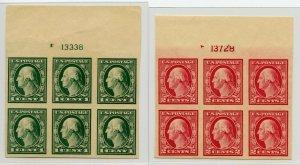 US SCOTT #481-482 Plate Blocks, Mint-XF-OG-NH (DFP 2/13/20)