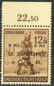 US ARMY IN CZECHOSLOVAKIA 1945 Private Contemporary Issue on Germany Stamp