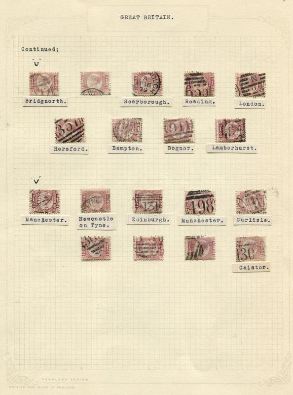 269 1870 1/2d Bantams choice group SG48