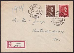 NORWAY 1942 Wessel FDC......................................................9344