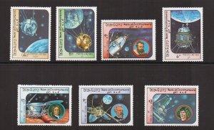 Laos   #577-583  MNH  1984  space exploration