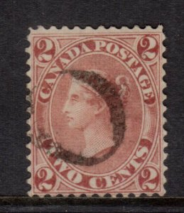 Canada #20 Very Fine Used - Four Clear Borders