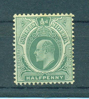 Southern Nigeria sc# 32 mh cat value $2.25
