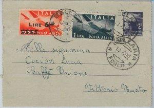 53366  - ITALIA REPUBBLICA - Storia Postale: DEMOCRATICA su INTERO POSTALE 1948