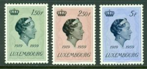Luxembourg #346-348  Mint  VF  NH  Scott $3.65  Royalty