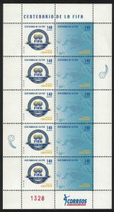 Costa Rica Centenary of FIFA Football Association Sheetlet SG#1772-1773