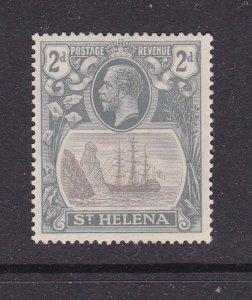 St Helena 1922 KGV SG 100a Broken mainmast MH